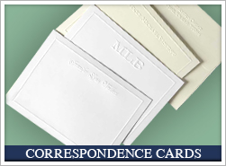 Personalized Correspondence Cards