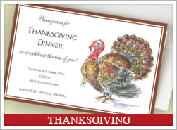 Personalized Thanksgiving Invites