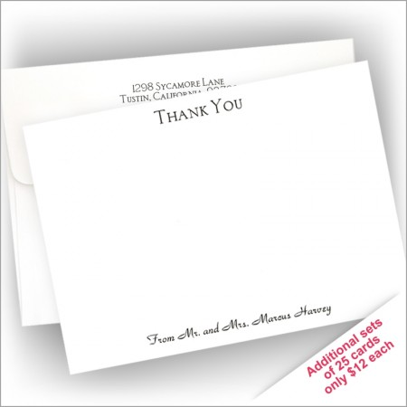 All-in-One Correspondence Cards -Thank You