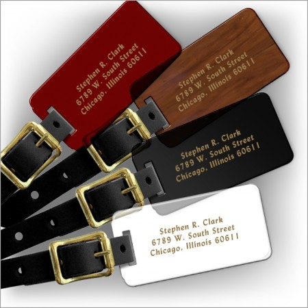 Gold Stamped Luggage Tags
