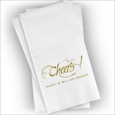 Personalized Holiday Guest Towel Napkins
