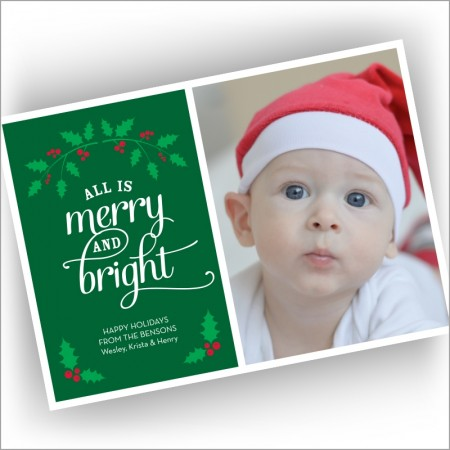 Holly Holiday Photocard - Format 1