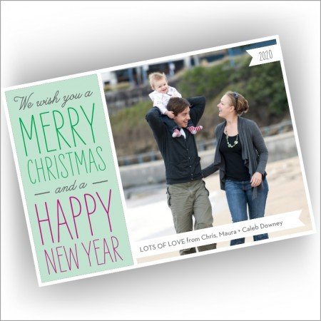 Wish You Holiday Photocard - Format 1