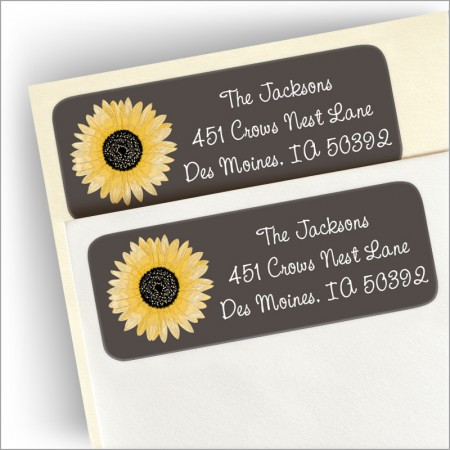 Blooming Sunflower Address Labels