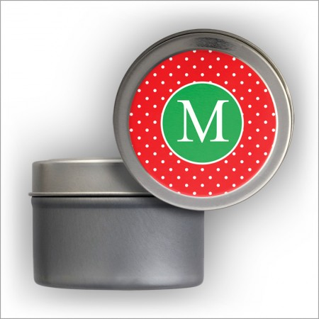 Red/Green Address Labels Tin