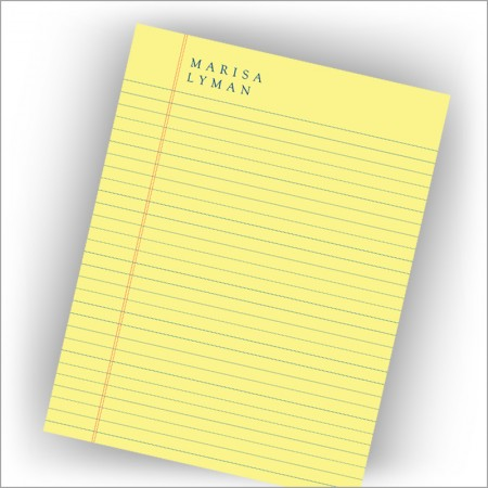 Legal Yellow Lined Memo Pad