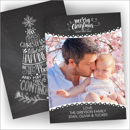 Chalkboard Christmas Photocard