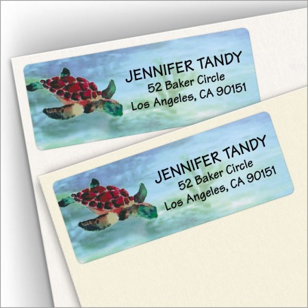 Watercolor Sea Turtle Address Labels