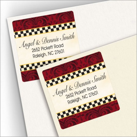 Checkers 2 Square Address Labels