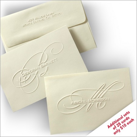 Exclusively Yours! Embossed Personal Notes