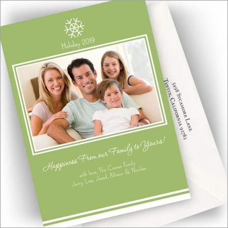 Green Frame Holiday Cards