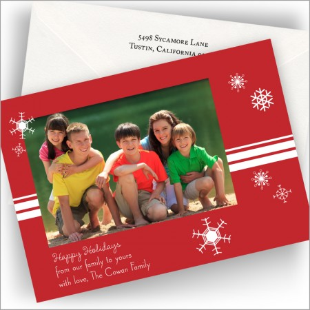 Merry Snowflakes Photo Cards