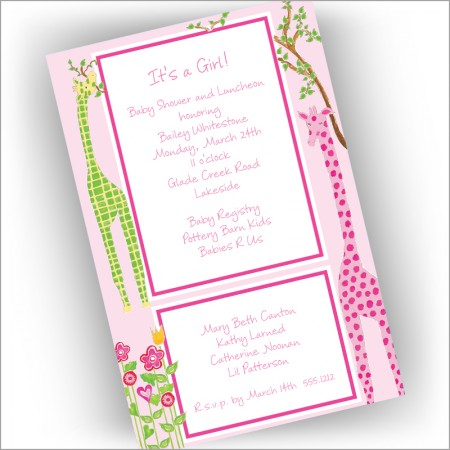 A Girl's View Invitations