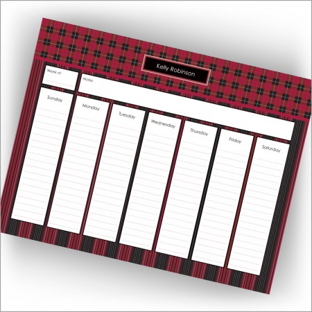 Buffalo Plaid Calendar