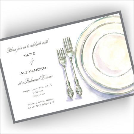Classic Placesetting Invitations