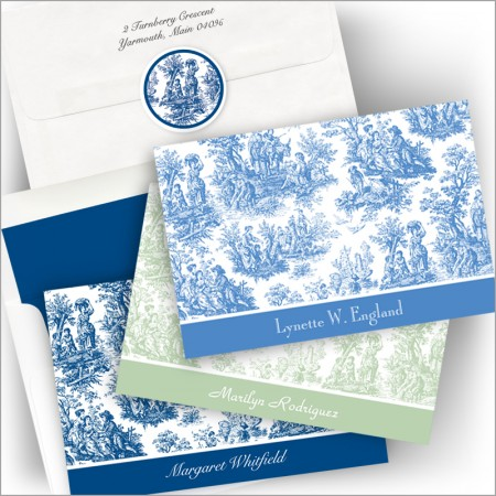 Classic Toile Notes and Seals