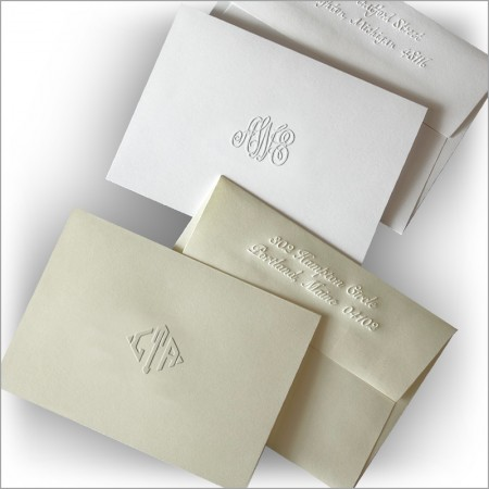 DYO Embossed Notes - Monogram