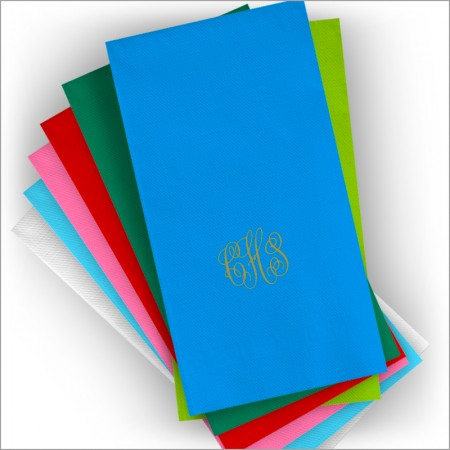 DYO Color Dinner Napkins - with Monogram - Matte Ink