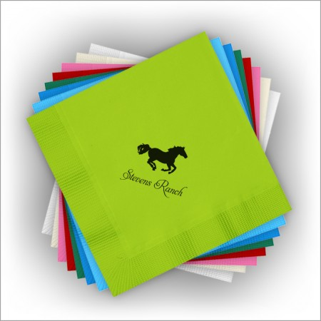 DYO Color Luncheon Napkins - Matte Ink