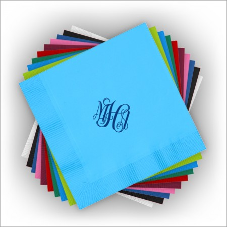 DYO Color Luncheon Napkins - with Monogram - Foil Stamped