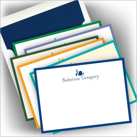 DYO Wide Hand Bordered Correspondence Cards