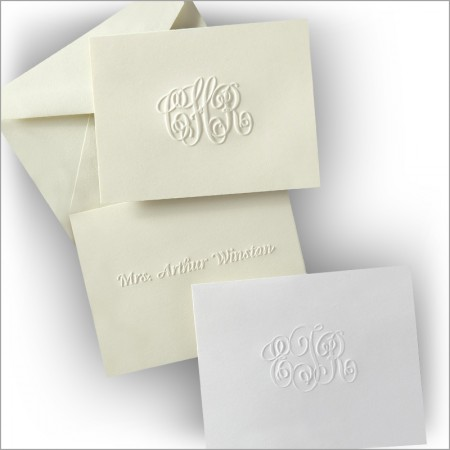 Embossed Gift Enclosure Cards
