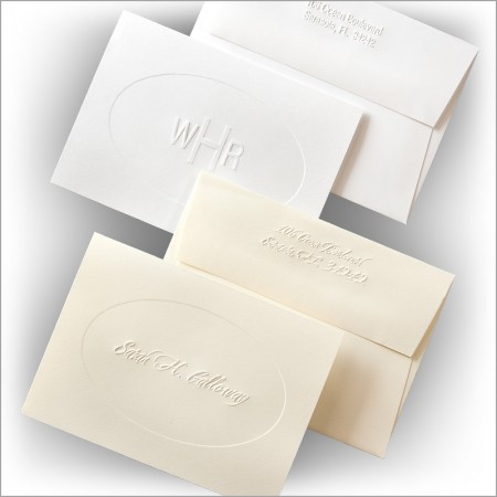 Embossed Oval Informal Notes