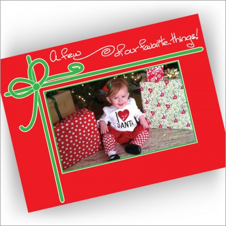 Favorite Things Photo Christmas Card