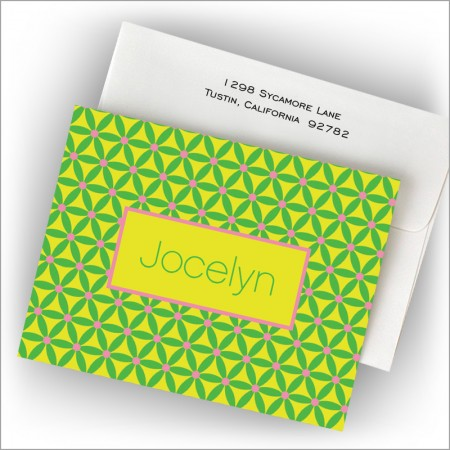 Geo Citrus Collection Fold Notes