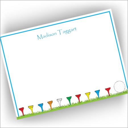 Golf Tee Correspondence Cards