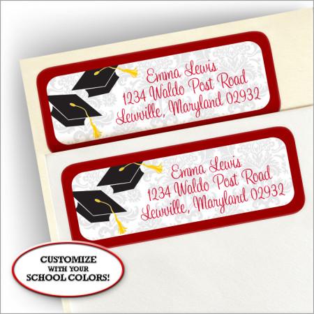 Grad Corners Address Labels #2