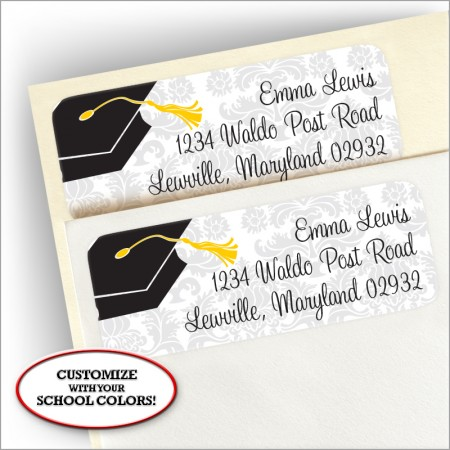 Grad Corners Return Address Label