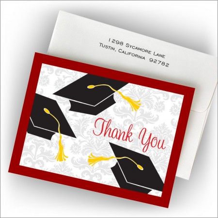 Grad Corners Thank You Notes
