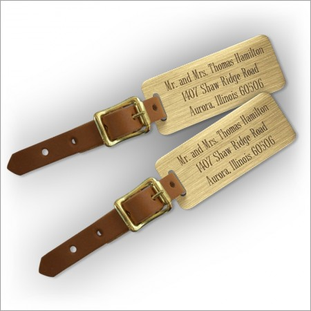 Engraved Luggage Tags - Set of 2 Tags