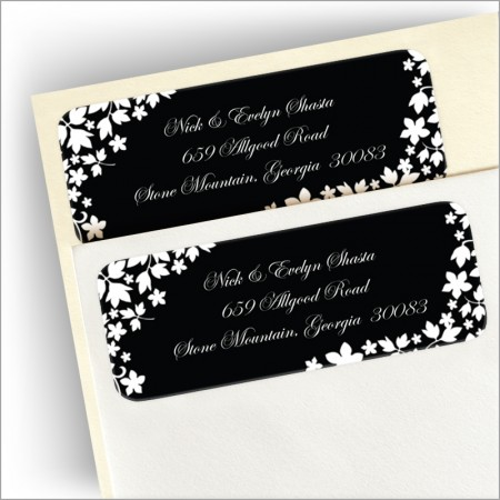 Midnight Silhouette Return Address Labels