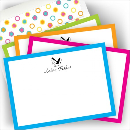 Neon Correspondence Card Set - with Design