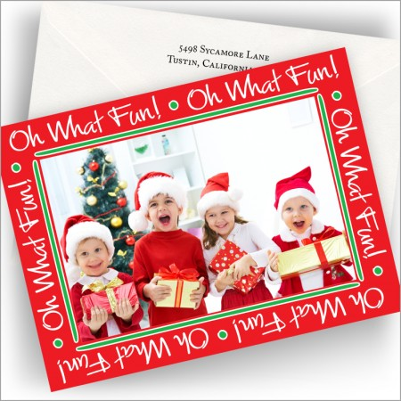 Oh What Fun Photo Cards - Horizontal