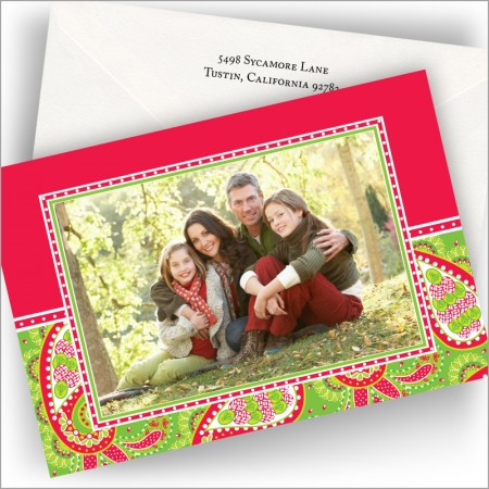 Holiday Paisley Photo Cards - Horizontal