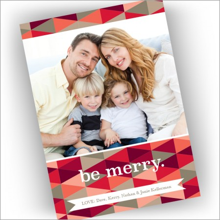 Patchwork Holiday Photocard - Format 1
