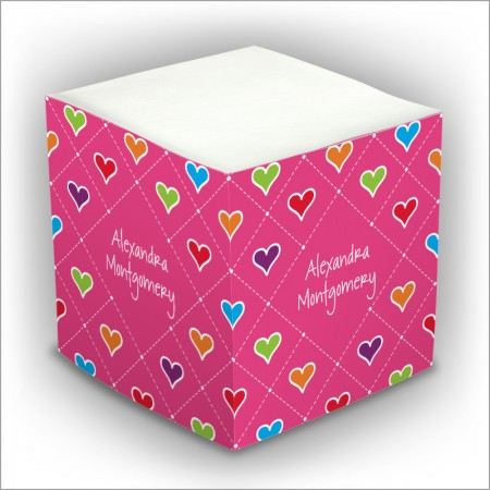 Personalized Self Stick Memo Cubes - Style 24