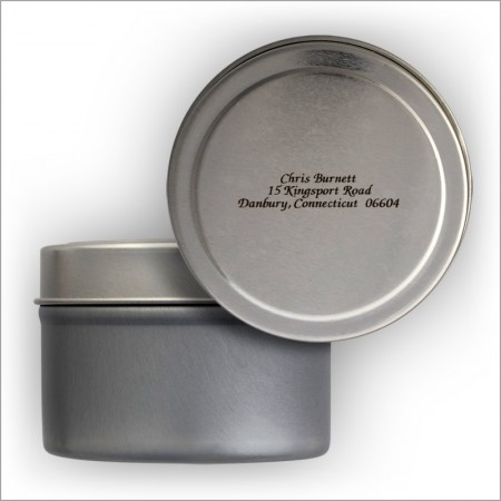 Petite See-Thru Address Labels Tin - Italic