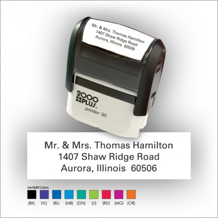 Quick Stamp w/Black Ink & 1 Color Refill - Format 1