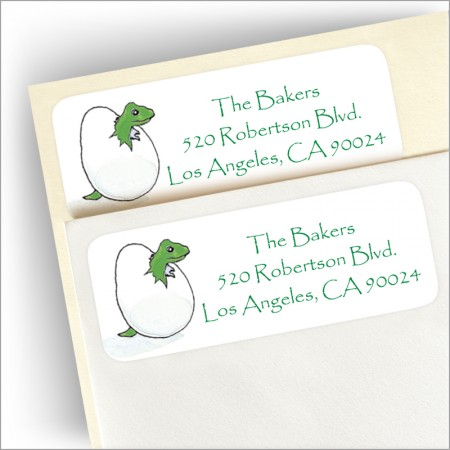 Reptile Party Return Address Label