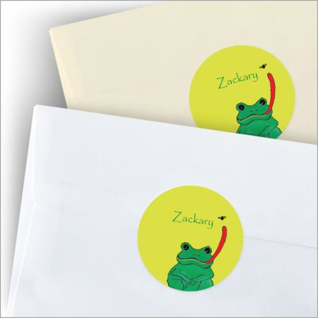 Reptile Party Round Stickers