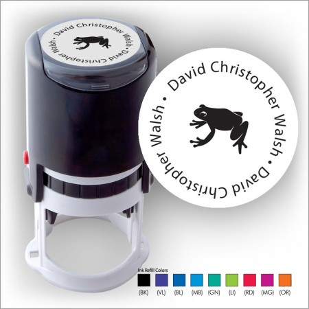 Froggy Friend Round Stamper - Black ink & 1 Color Refill