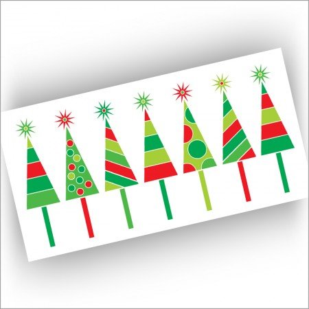 Row of Trees Christmas Cards