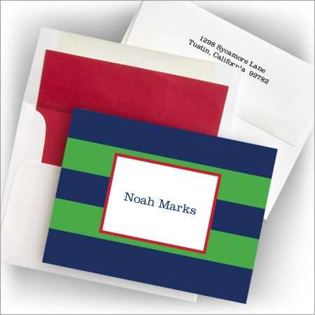Rugby Navy & Kelly Fold Notes