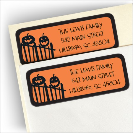 Spooky Street Return Address Label