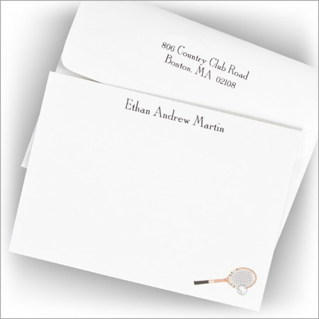 Tennis Anyone? Correspondence Cards