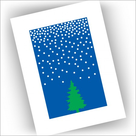 Tree in Snow Holiday Cards